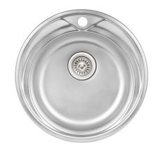 Кухонна мийка Qtap D510 dekor 0,8 мм (QTD510MICDEC08)