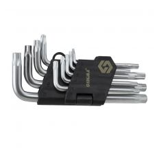 Ключи TORX 9шт T10-T50 CrV (короткие с отверстием) Sigma (4022211)