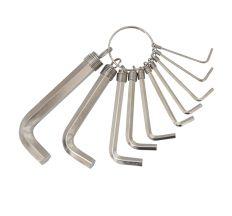 Ключи шестигранные 10ед, 1.5-10мм Grad (4022635)