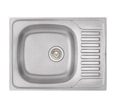 Кухонна мийка Qtap 6550 Satin 0,8 мм (QT6550SAT08)