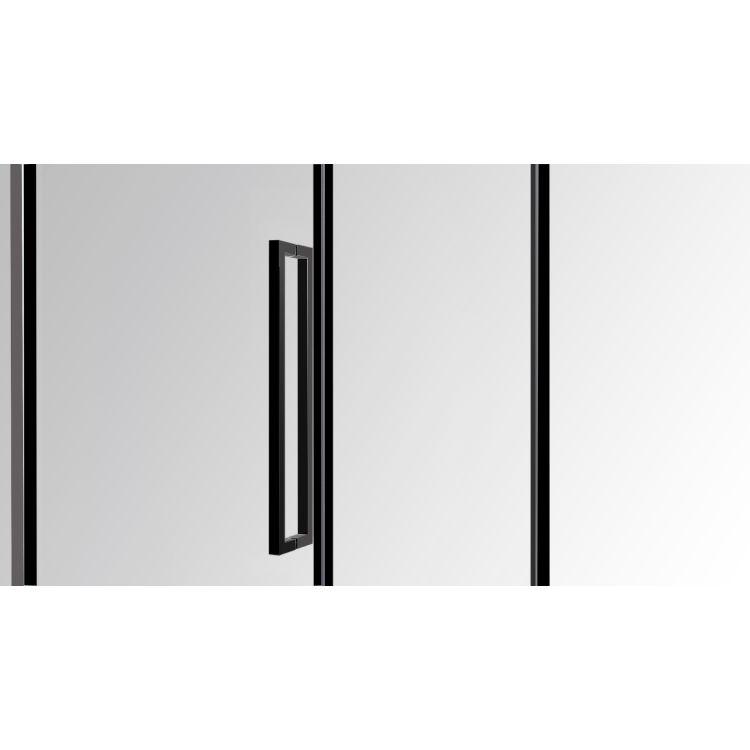A LÁNY Душевая кабина пятиугольная, реверсивная, 1000*1000*1950 (стекла+двери), двери распашные, стекло прозрачное 6 мм, профиль черный - 5