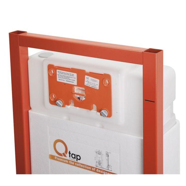 Набір інсталяція 4 в 1 Qtap Nest ST з круглої панеллю змиву QT0133M425V1164GW - 3