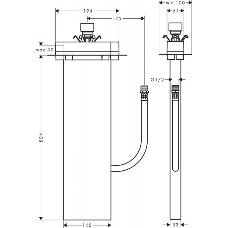 Sbox Прихована частина для монтажу на ванну або плитку - 2