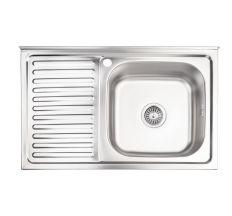 Кухонна мийка Lidz 5080-R Decor 0,8 мм (LIDZ5080RDEC06)