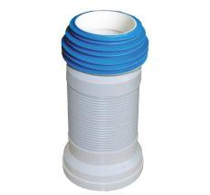 Гофро-труба для унитаза SANTAN Aqua с пружиной 290-550 мм