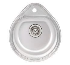 Кухонна мийка Qtap 4450 dekor 0,8 мм (QT4450MICDEC08)