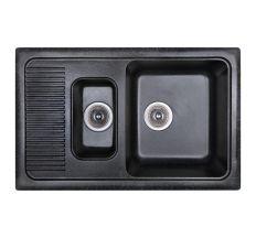 Мойка Fosto 77x49/770*495*190 цвет SGA-420 черный (без сифона)