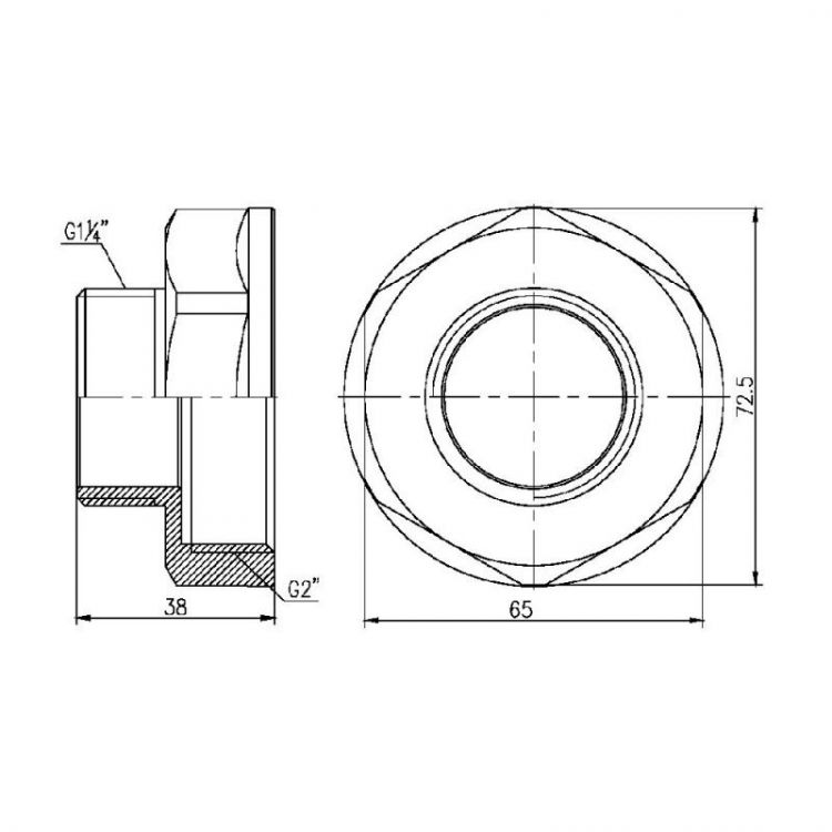 Перехід Forte 2Вх1 1/4Н - 2