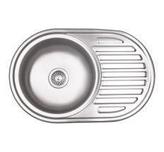 Кухонна мийка Lidz 7750 dekor 0,8 мм (LIDZ7750MDEC)