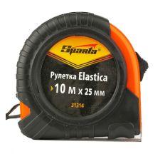 Рулетка Elastica 10 м х 25 мм, обрезиненный корпус, SPARTA