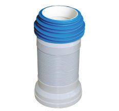 Гофро-труба для унитаза SANTAN Aqua с пружиной 270-500 мм