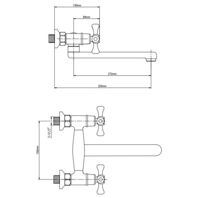 Смеситель для кухни GF (CRM)/S- 22-361 - 2