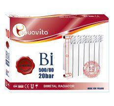 Секція радіатора алюмінієвого AQUAVITA 500/80 L6, 20 бар