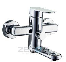 Z65-LOB3-A128 белый ZEGOR Смеситель для ванны короткий гусак, к.35