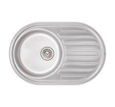 Кухонна мийка Qtap 7750 dekor 0,8 мм (QT7750MICDEC08)