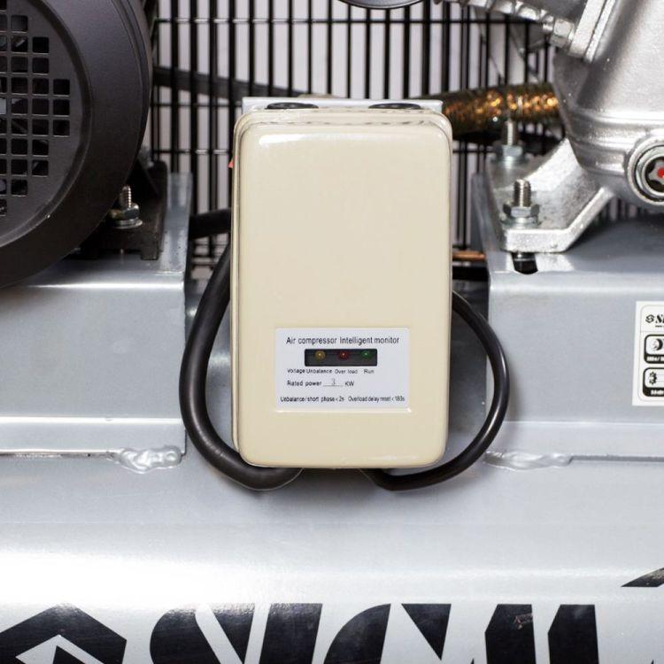 Компрессор ременной трехцилиндровый 380В 3кВт 610л/мин 10бар 135л Sigma (7044711) - 4