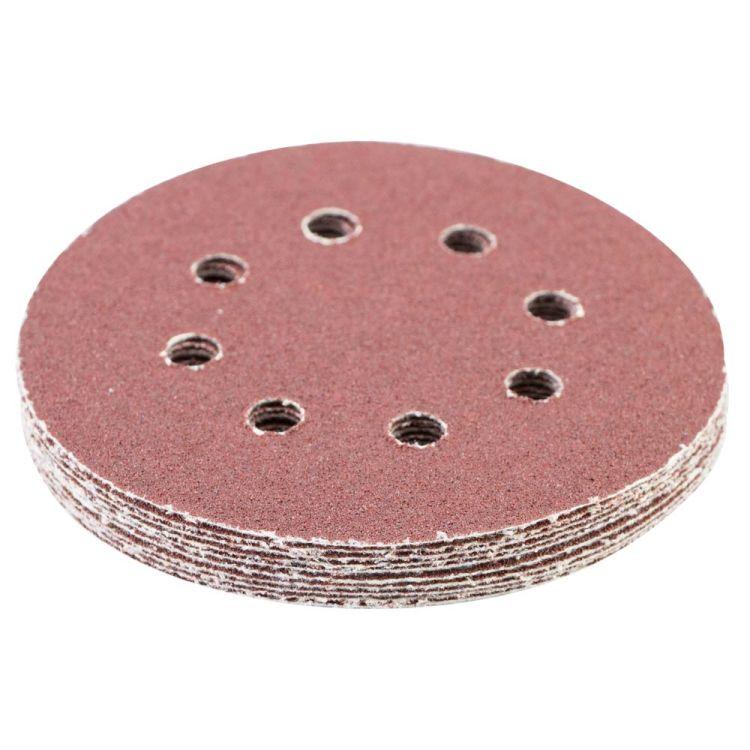 Шлифовальный круг 8 отверстий Ø125мм P60 (10шт) Sigma (9122641) - 3