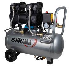 Компресор двоциліндровий безмасляний 1.5 кВт 209л/хв 8бар 30л SIGMA (7042541)