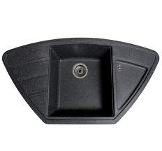 Мийка SOLID Craft 980*510 антрацит зі штучного каменю, з сіфоном