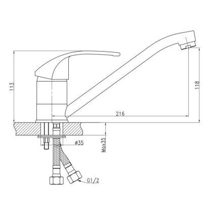 Змішувач для кухні Q-tap Mars 002 мрамур - 2