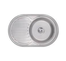 Кухонна мийка Lidz 7750 Satin 0,6 мм (LIDZ775006SAT160)