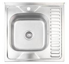 Кухонна мийка Lidz 6060-L Satin 0,6 мм (LIDZ6060SAT06)