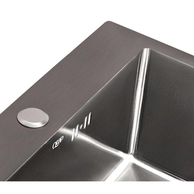 Кухонна мийка Qtap D5050BL 2.7/1.0 мм (QTD5050BLPVD10) - 6
