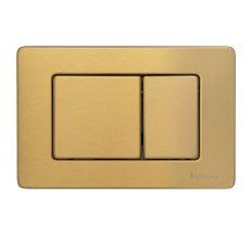 IMPRESE i7112, клавиша смыва, золото сатин, нержавеющая сталь