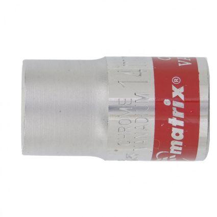 Головка торцева, 14 мм, 12-гранна, CrV, хромована MTX MASTER 136889 - 1