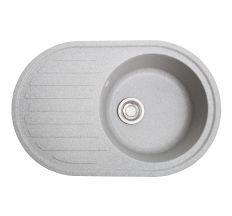 Мийка SOLID Elegant 770*500 сіра зі штучного каменю, з сіфоном