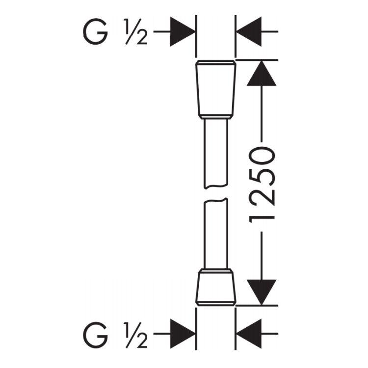 Comfortflex Шланг 1,25 м½, хром - 2