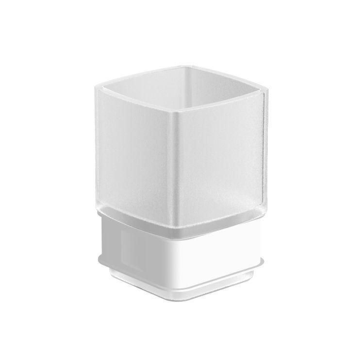 TEO стакан матовое стекло с мягким кольцом - 1