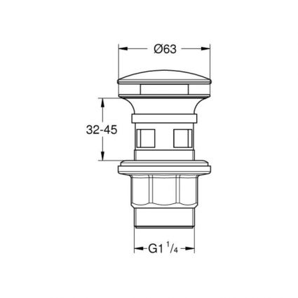 Донний клапан Grohe 40824000 - 2