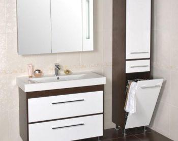 Какая должна быть мебель в ванной комнате: материалы, формы