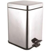 Відро для сміття AQUAVITA KL-301S метал, квадрат 5 л, 2-й сорт