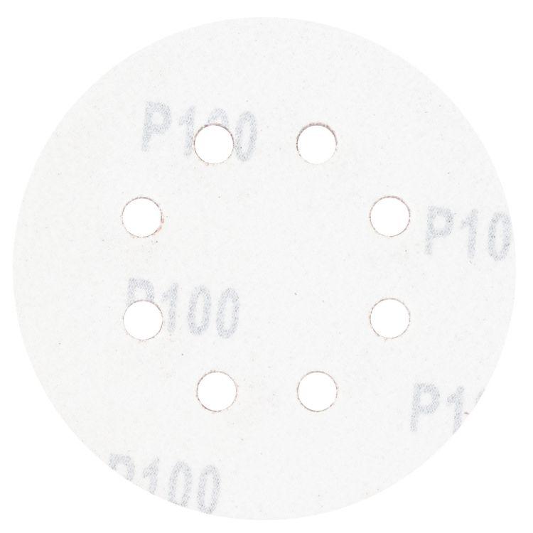 Шлифовальный круг 8 отверстий Ø125мм P100 (10шт) Sigma (9122661) - 2
