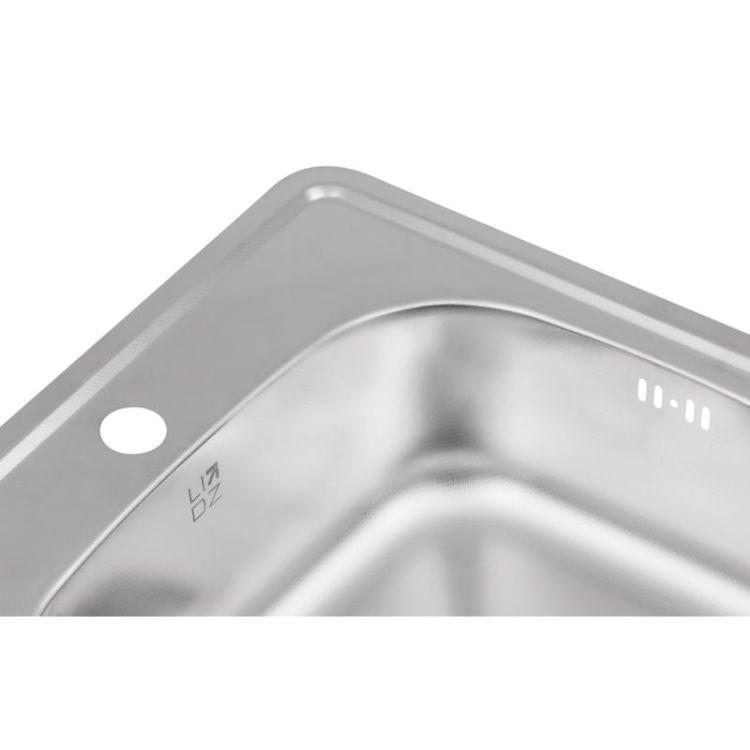 Кухонна мийка Lidz 4848 Decor 0,6 мм (LIDZ4848DEC06) - 6