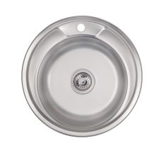Кухонна мийка Lidz 490-A Satin 0,6 мм (LIDZ490A06SAT)
