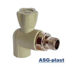 кран радиаторный угловой ABS 25 без резинки
