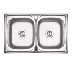 Кухонна мийка Lidz 7948 Decor 0,8 мм (LIDZ7948DEC08)