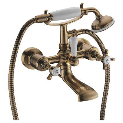 CUTHNA antiqua двухвентильный смеситель для ванны, бронза - 1