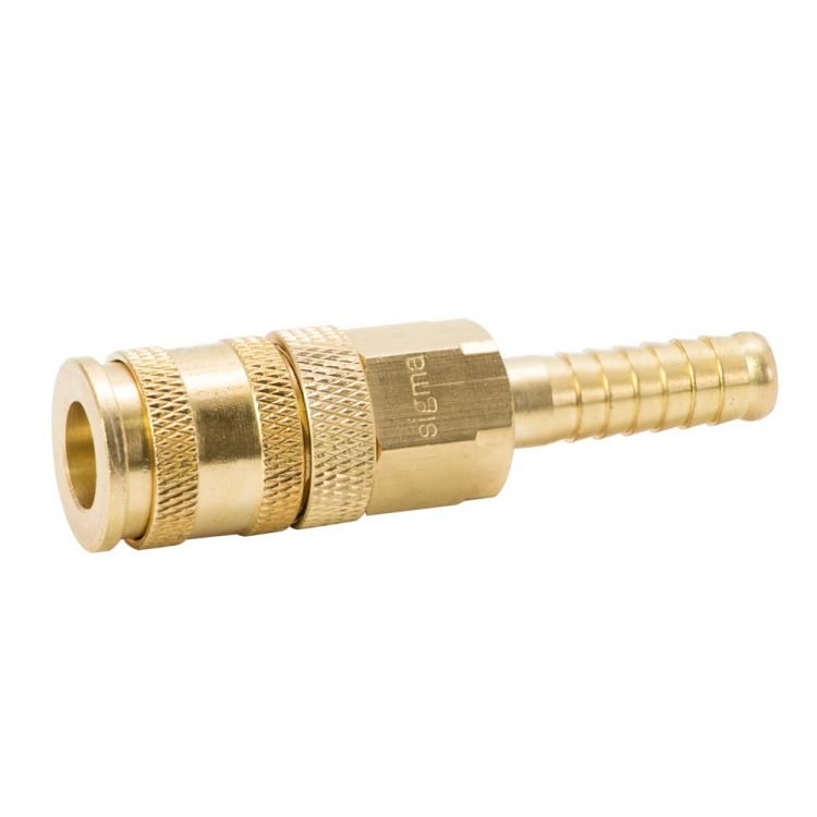 Соединение быстросъемное усиленное с фиксатором для шланга 10мм (латунь) Sigma (7021691) - 3