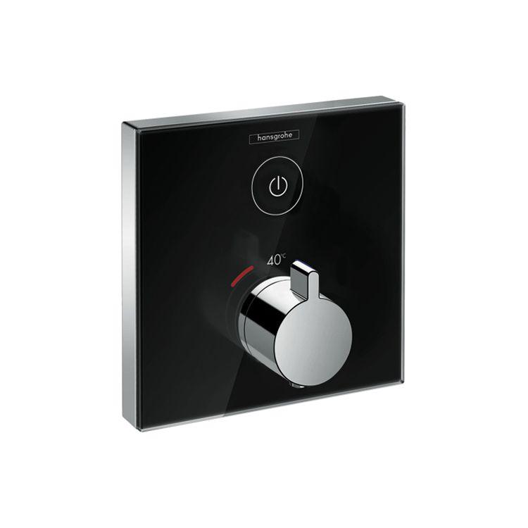 ShowerSelect Термостат для одного потребителя, стеклянный, СМ, черный/хром - 1