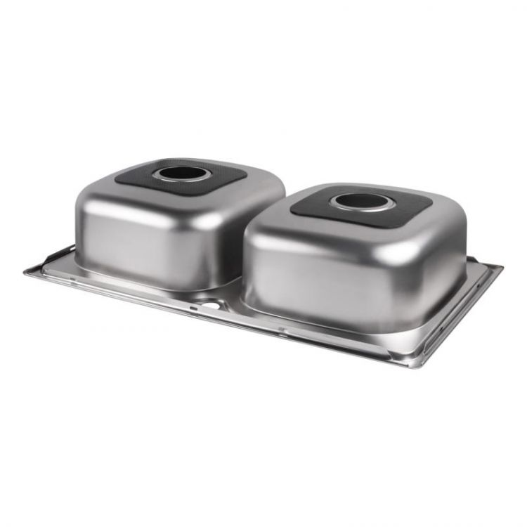Кухонна мийка Lidz 7948 Satin 0,8 мм (LIDZ7948SAT8) - 4