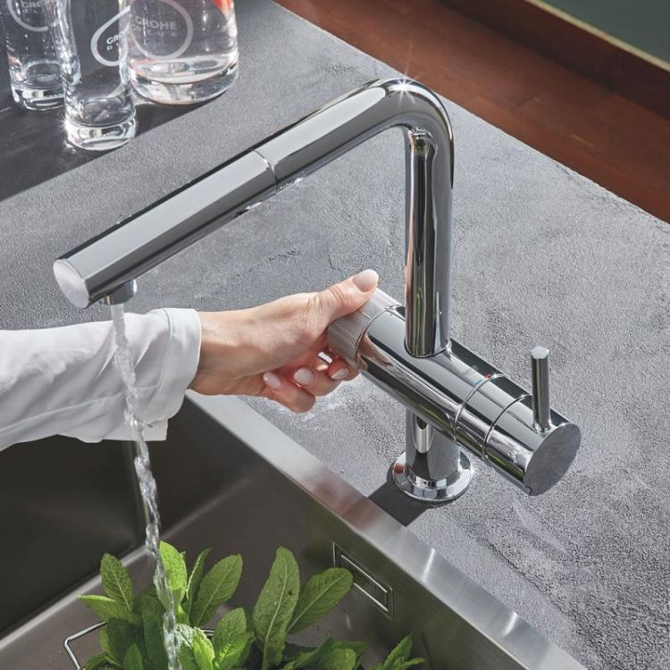 Pure Blue Minta змішувач одинважільний для миття з функцією очищення водопровідної води, монтаж на один отвір - 9