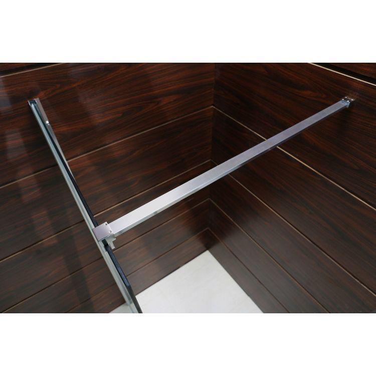 Комплект Walk-In: Стінка 100*190см прозоре скло 8мм + стіновий Профіль хром 190см+Тримач скла (D) з кріпленнями 100см - 3