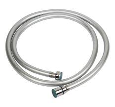 """Шланг для душу 1/2"""" PVC 3-х шаровий з підшипником сріблястий 150см AQUATICA XB-0173 (9791611)"""