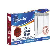 Секція литого алюмінієвого радіатора AQUAVITA 350/80, 16 бар