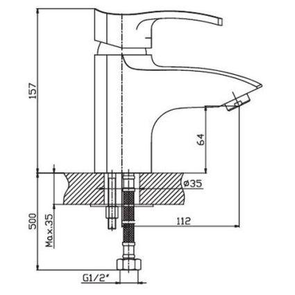 Змішувач для умивальника HAIBA Focus 001 - 2