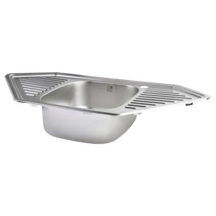 Кухонна мийка Lidz 9550-D Decor 0,8 мм (LIDZ9550DEC08) - 3